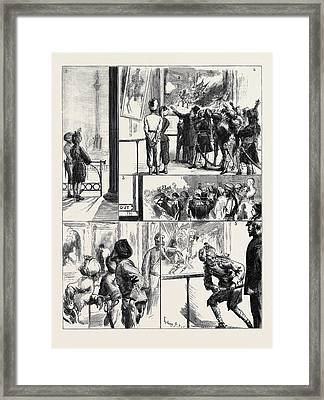 Our Indian Visitors In London Framed Print by English School