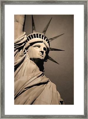 Our Lady Liberty Framed Print