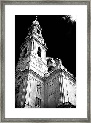 Our Lady Of Fatima Framed Print by John Rizzuto