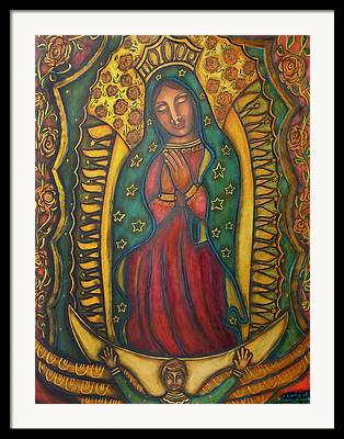 Contemporary Sacred Icon Paintings Framed Prints