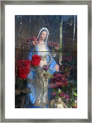 Our Lady Of Grace San Ysidro Cemetery Corrales New Mexico 2010 Framed Print by John Hanou