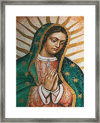 Framed Print featuring the painting Our Lady Of Guadalope by Pam Neilands