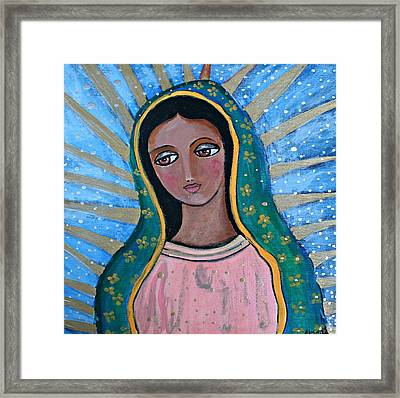 Our Lady Of Guadalupe Folk Art Framed Print