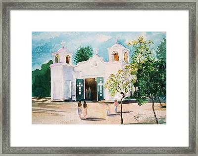 Our Lady Of Guadalupe Framed Print by Marilyn Smith