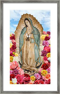 Framed Print featuring the digital art Our Lady Of Guadalupe by Nancy Ingersoll