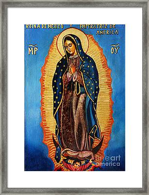 Our Lady Of Guadalupe  Framed Print by Ryszard Sleczka