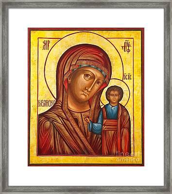 Our Lady Of Kazan II Framed Print by Ryszard Sleczka