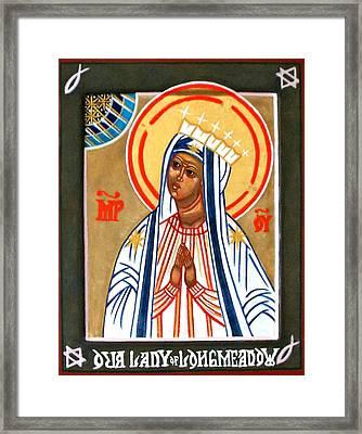 Our Lady Of Longmeadow Framed Print by Marcelle Bartolo-Abela