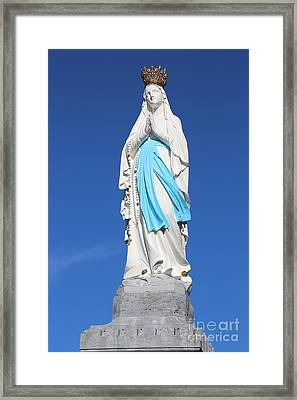 Our Lady Of Lourdes Framed Print by Carol Groenen