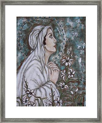 Our Lady Of Mental Peace Framed Print by Rain Ririn