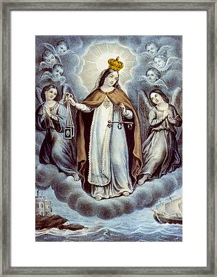 Our Lady Of Mercy Circa 1856  Framed Print by Aged Pixel