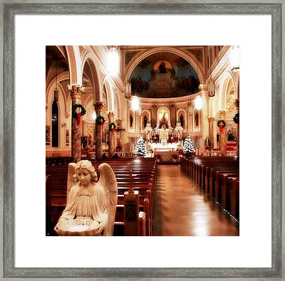 Framed Print featuring the photograph Our Lady Of Mount Carmel Church At Christmas by Aurelio Zucco