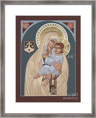 Framed Print featuring the painting Our Lady Of Mt. Carmel 255 by William Hart McNichols