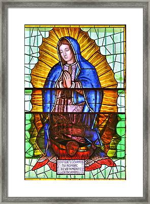 Framed Print featuring the photograph Our Lady Of Peace by Christine Till