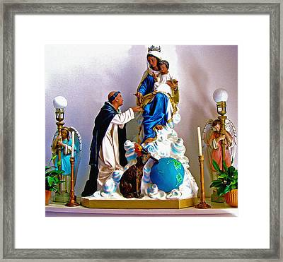 Our Lady Of Peace Framed Print
