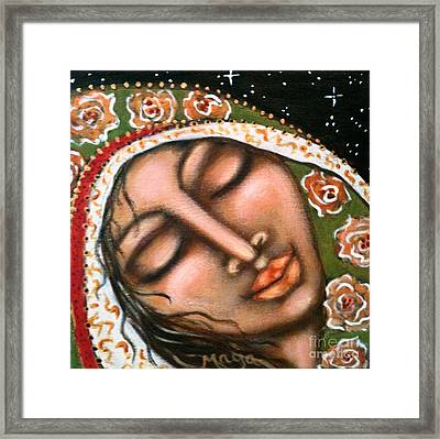 Our Lady Of Peace Framed Print by Maya Telford