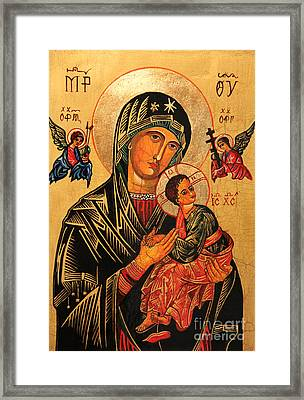 Our Lady Of Perpetual Help Icon II Framed Print