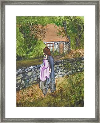 Framed Print featuring the painting Our Lady Of Salem by Virginia Coyle