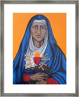 Our Lady Of Sorrows Framed Print by Jane Madrigal