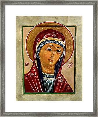 Our Lady Of Springfield Framed Print by Marcelle Bartolo-Abela