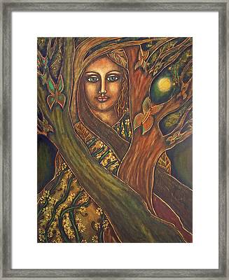 Our Lady Of The Shimmering Wildwood Framed Print by Marie Howell Gallery