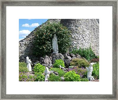Our Lady Of The Woods Shrine Lll Framed Print by Michelle Calkins
