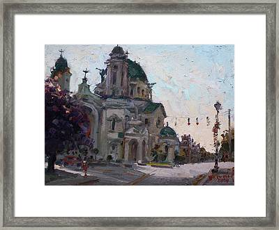 Our Lady Of Victory Basilica Framed Print by Ylli Haruni