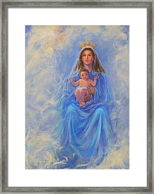 Our Lady Of Victory Framed Print by Beverly Klucher