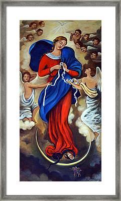Our Lady Undoer Of Knots Framed Print by Valerie Vescovi