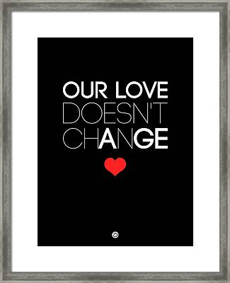Our Life Doesn't Change Poster 1 Framed Print