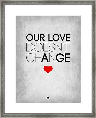 Our Life Doesn't Change Poster 2 Framed Print