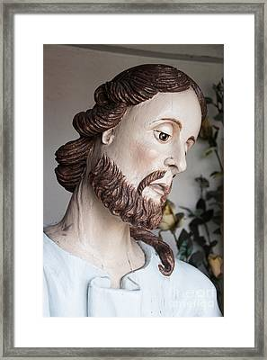 Our Lord Framed Print by Agnieszka Kubica