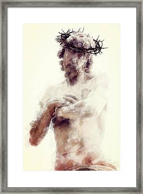 Our Lord And Savior Framed Print by Daniel Hagerman