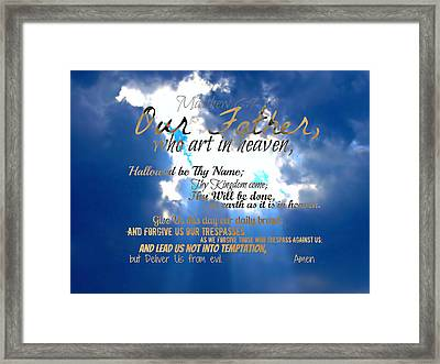 Our Lords Prayer Framed Print