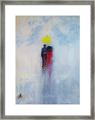 Our Love And A Summer Rain Framed Print
