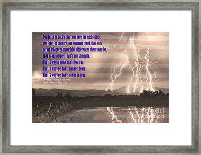 Our Love For Country Framed Print