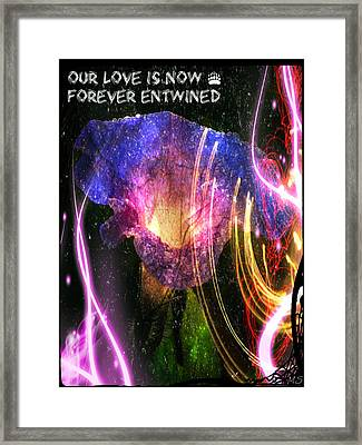 Our Love Is Now Forever Entwined Framed Print by Absinthe Art By Michelle LeAnn Scott