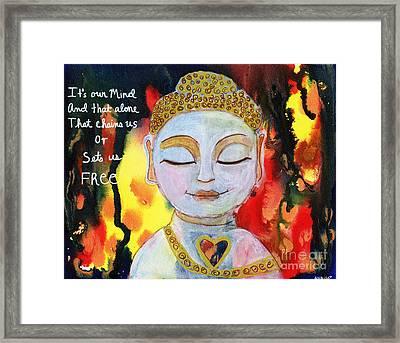 Our Mind Sets Us Free Framed Print