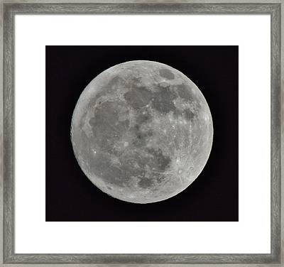 Our Moon Framed Print by Thomas  MacPherson Jr