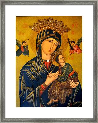 Our Mother Of Perpetual Help Rome Framed Print by Jay Milo
