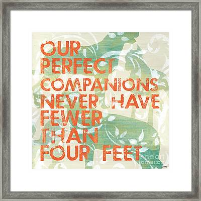 Our Perfect Companion Framed Print