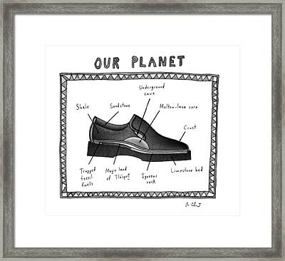 Our Planet Framed Print by Roz Chast