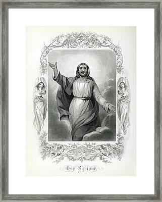 Our Saviour  1873 Framed Print by Daniel Hagerman