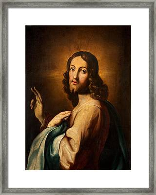Our Saviour Framed Print by Spanish School