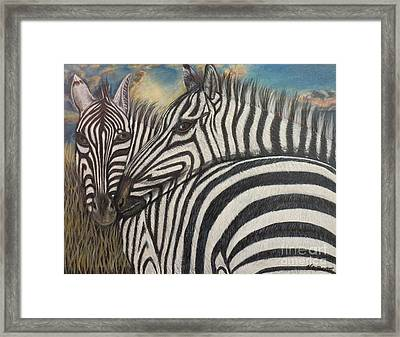 Our Stripes May Be Different But Our Hearts Beat As One Framed Print