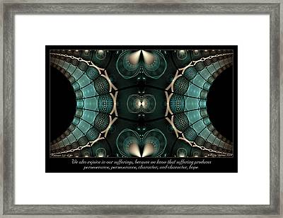 Our Sufferings Framed Print