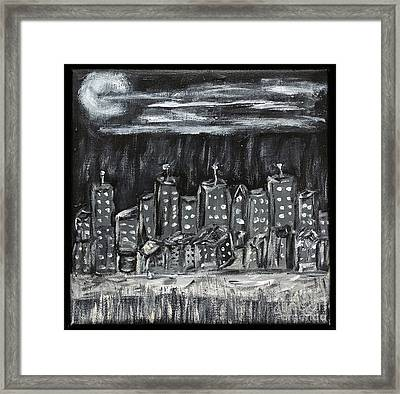 Framed Print featuring the photograph Our Town by Gary Brandes