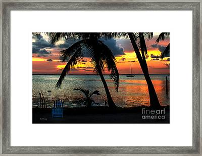 Our Weather Is Spelled- Tropical Framed Print by Rene Triay Photography