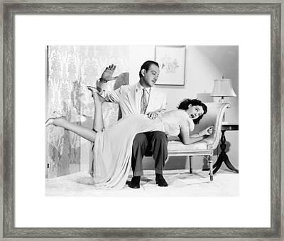 Our Wife, Melvyn Douglas, Spanking Framed Print