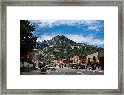 Ouray Main Street Framed Print by Jim McCain